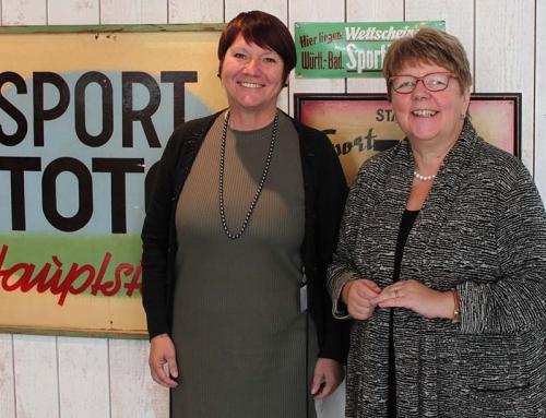 Menzer-Haasis besucht Lotto-Zentrale