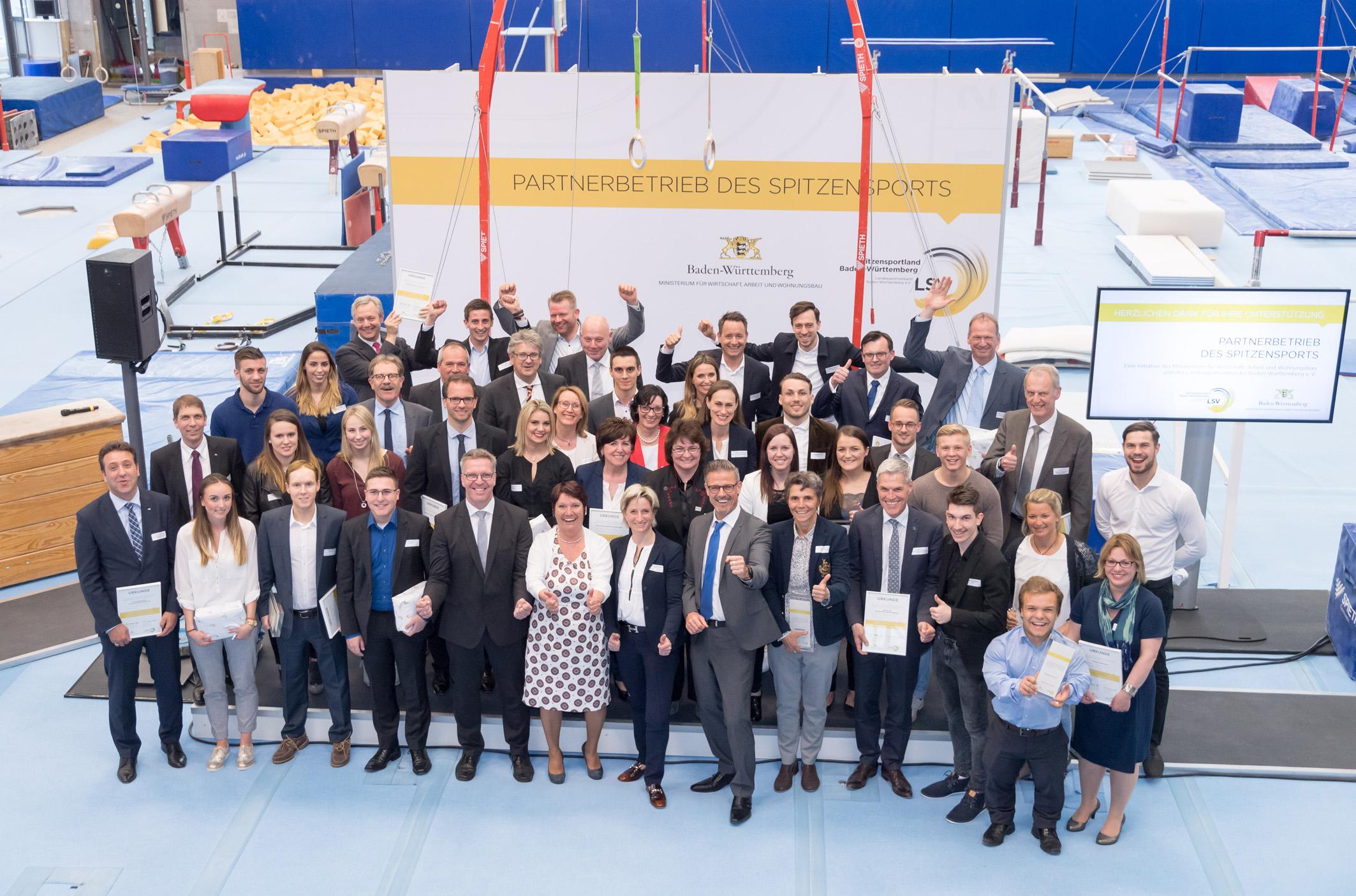Partnerbetrieb des Spitzensports - Auszeichnungsfeier 2017