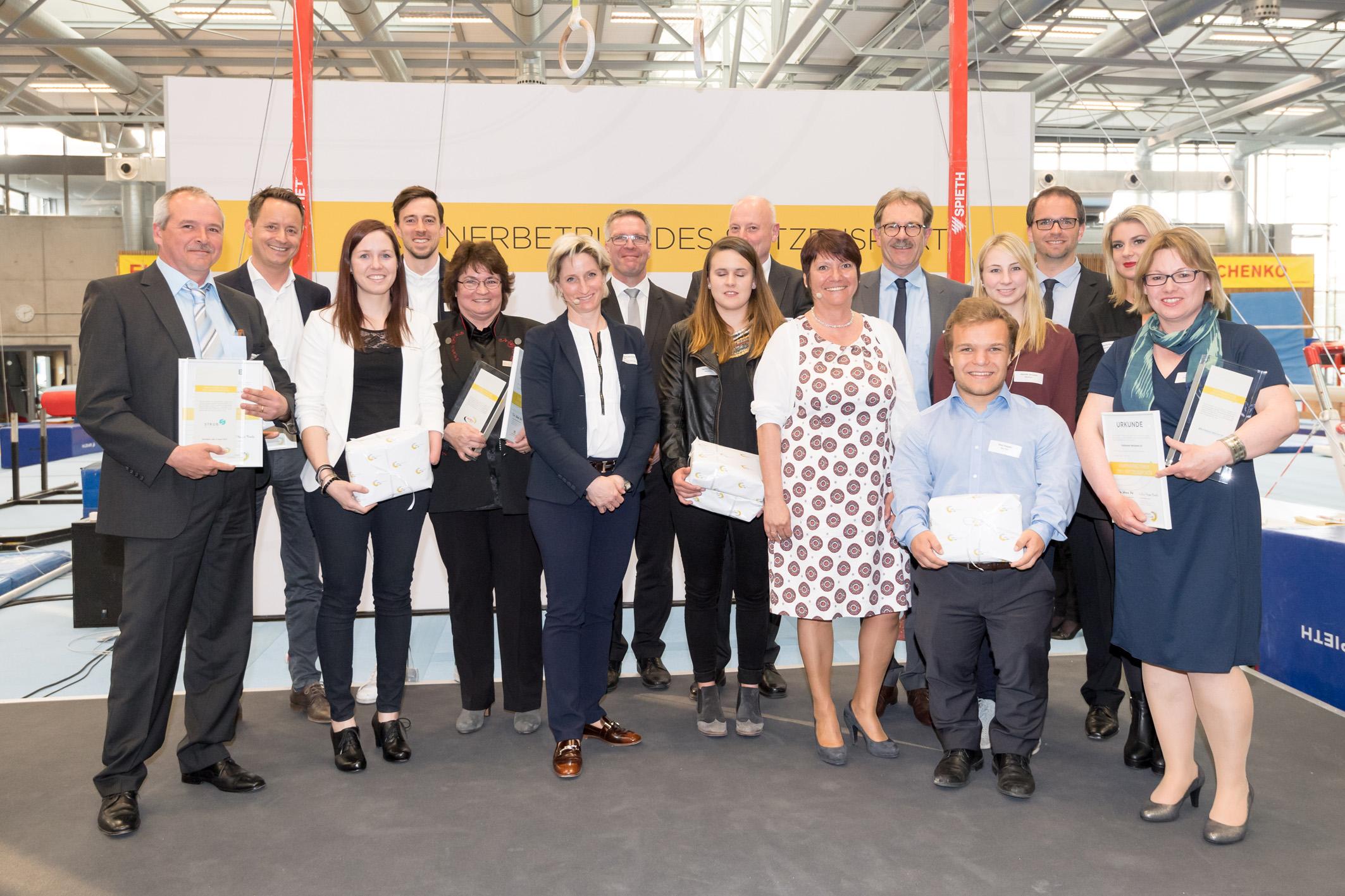 Auszeichnungsfeier 2017 - Partnerbetrieb des Spitzensports