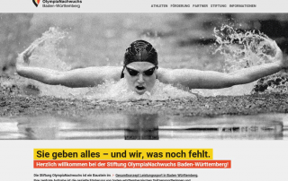Website Stiftung OlmypiaNachwuchs