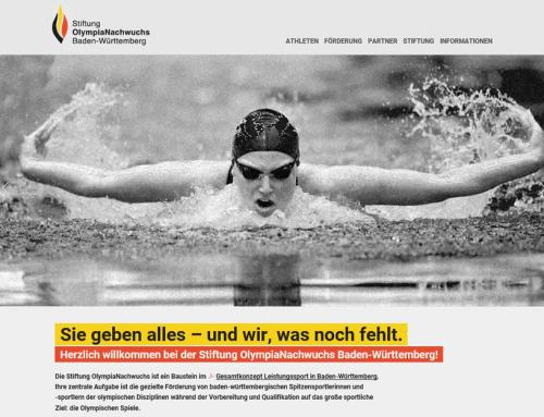 Neuer Look für die Website der Stiftung OlympiaNachwuchs