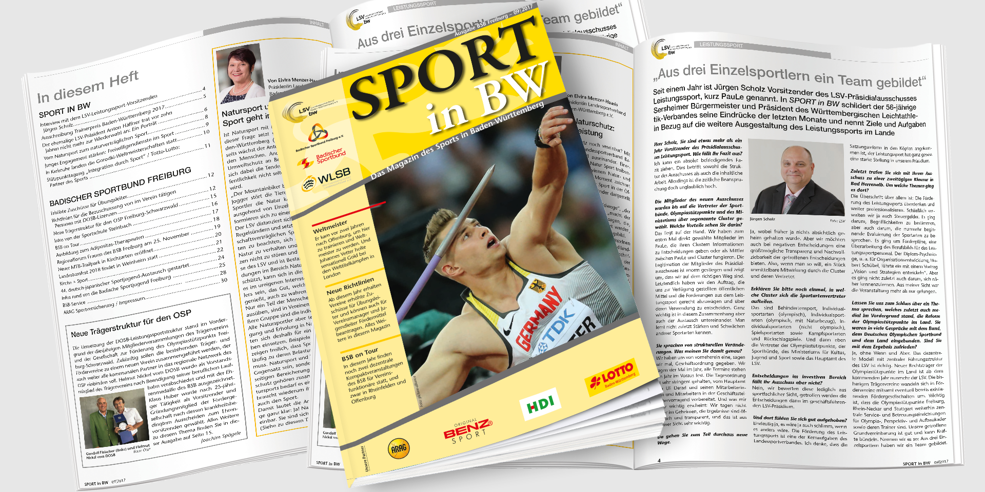 Sport in BW Ausgabe September 2017 - Das Magazin des Sports in Baden-Württemberg
