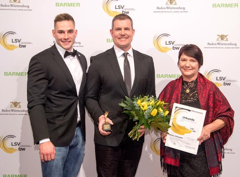 Johannes Vetter, Boris Obergföll und Elvira Menzer-Haasis Treinerpreis 2017