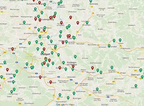 Einsatzstellen in Baden-Württemberg