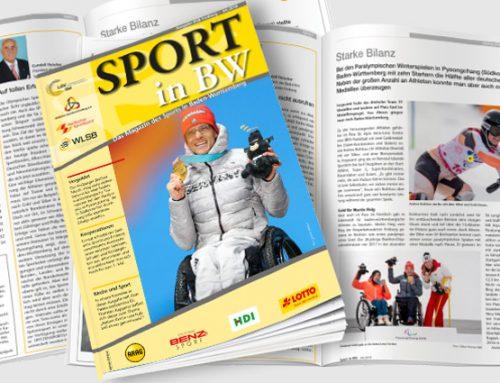 Themen der April-Ausgabe von Sport in BW
