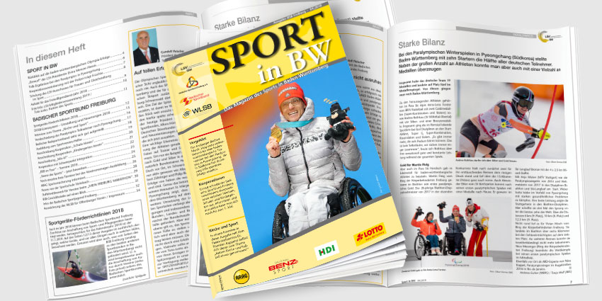 Sport in BW - Das Magazin des Sports in Baden-Württemberg; Ausgabe April 2018