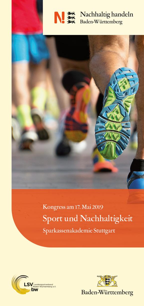 Flyer zum Kongress Sport und Nachhaltigkeit 2019