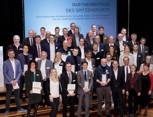 """Wirtschaftsministerium und Landessportverband zeichnen 16 """"Partnerbetriebe des Spitzensports"""" aus"""