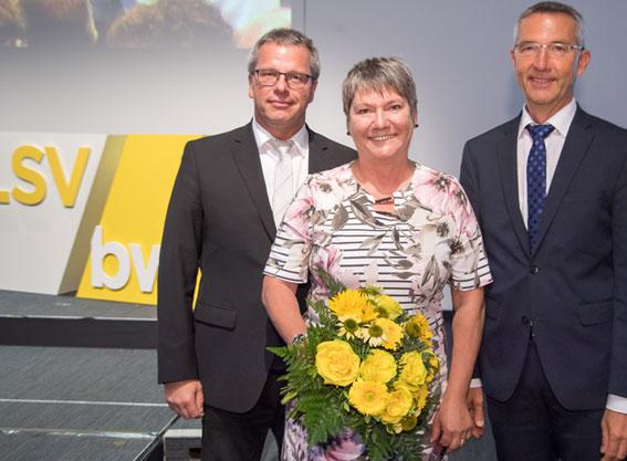 v.l.n.r.: Andreas Felchle – Vizepräsident, Elvira Menzer-Haasis – Präsidentin des Landessportverbandes Baden-Württemberg, Martin Lenz – Vizepräsident